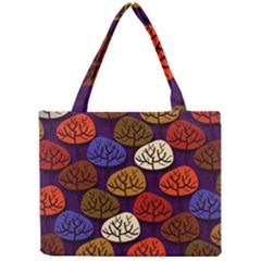 Colorful Trees Background Pattern Mini Tote Bag