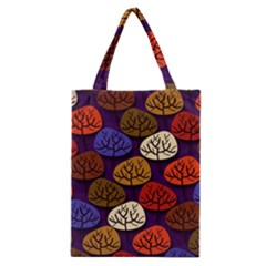 Colorful Trees Background Pattern Classic Tote Bag