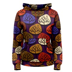 Colorful Trees Background Pattern Women s Pullover Hoodie