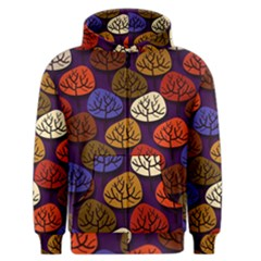 Colorful Trees Background Pattern Men s Zipper Hoodie