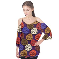 Colorful Trees Background Pattern Flutter Tees