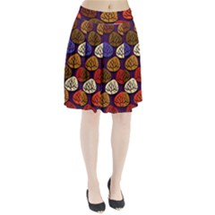 Colorful Trees Background Pattern Pleated Skirt