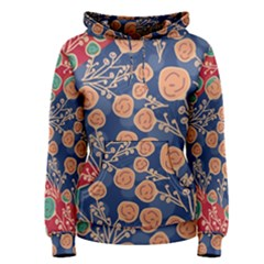 Floral Seamless Pattern Vector Texture Women s Pullover Hoodie