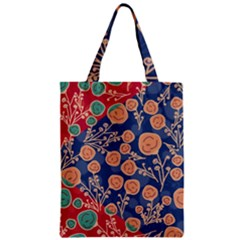 Floral Seamless Pattern Vector Texture Zipper Classic Tote Bag