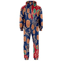Floral Seamless Pattern Vector Texture Hooded Jumpsuit (men)