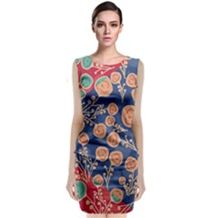 Floral Seamless Pattern Vector Texture Classic Sleeveless Midi Dress