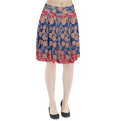 Floral Seamless Pattern Vector Texture Pleated Skirt