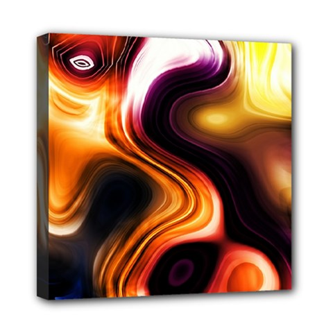 Colourful Abstract Background Design Mini Canvas 8  x 8