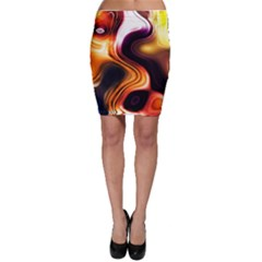 Colourful Abstract Background Design Bodycon Skirt