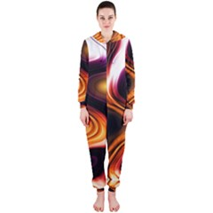 Colourful Abstract Background Design Hooded Jumpsuit (ladies)