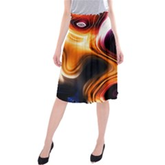 Colourful Abstract Background Design Midi Beach Skirt