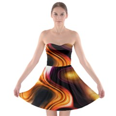 Colourful Abstract Background Design Strapless Bra Top Dress