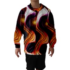 Colourful Abstract Background Design Hooded Wind Breaker (Kids)