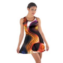 Colourful Abstract Background Design Cotton Racerback Dress