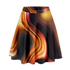Colourful Abstract Background Design High Waist Skirt