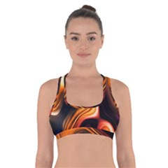 Colourful Abstract Background Design Cross Back Sports Bra