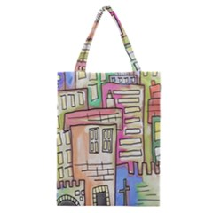 A Village Drawn In A Doodle Style Classic Tote Bag