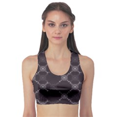 Abstract Seamless Pattern Background Sports Bra