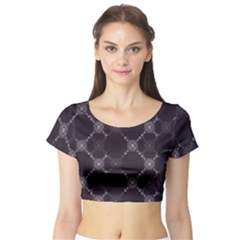 Abstract Seamless Pattern Background Short Sleeve Crop Top (Tight Fit)