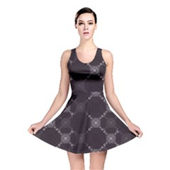 Abstract Seamless Pattern Background Reversible Skater Dress