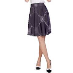 Abstract Seamless Pattern Background A-Line Skirt