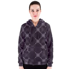 Abstract Seamless Pattern Background Women s Zipper Hoodie