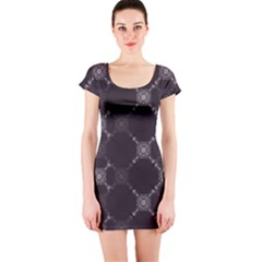 Abstract Seamless Pattern Background Short Sleeve Bodycon Dress