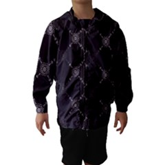 Abstract Seamless Pattern Background Hooded Wind Breaker (Kids)