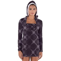Abstract Seamless Pattern Background Women s Long Sleeve Hooded T-shirt
