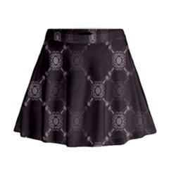 Abstract Seamless Pattern Background Mini Flare Skirt
