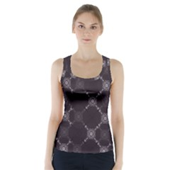 Abstract Seamless Pattern Background Racer Back Sports Top