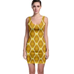 Snake Abstract Pattern Sleeveless Bodycon Dress