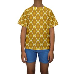 Snake Abstract Pattern Kids  Short Sleeve Swimwear