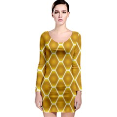 Snake Abstract Pattern Long Sleeve Bodycon Dress