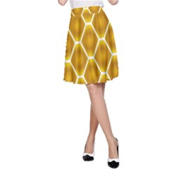 Snake Abstract Pattern A Line Skirt
