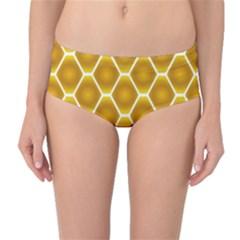 Snake Abstract Pattern Mid-Waist Bikini Bottoms