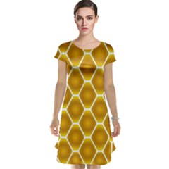 Snake Abstract Pattern Cap Sleeve Nightdress