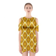 Snake Abstract Pattern Shoulder Cutout One Piece