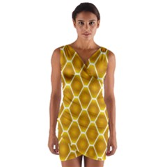 Snake Abstract Pattern Wrap Front Bodycon Dress
