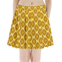Snake Abstract Pattern Pleated Mini Skirt