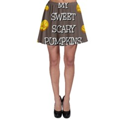 Hallowen My Sweet Scary Pumkins Skater Skirt