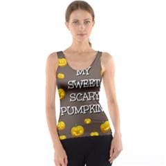 Hallowen My Sweet Scary Pumkins Tank Top
