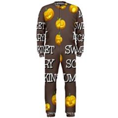Hallowen My Sweet Scary Pumkins Onepiece Jumpsuit (men)