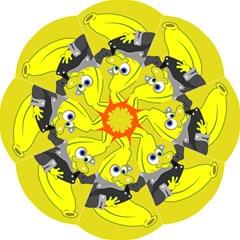 Funny Cartoon Punk Banana Illustration Hook Handle Umbrellas (Medium)