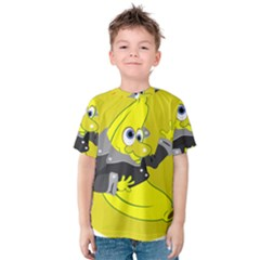 Funny Cartoon Punk Banana Illustration Kids  Cotton Tee
