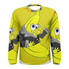 Funny Cartoon Punk Banana Illustration Men s Long Sleeve Tee
