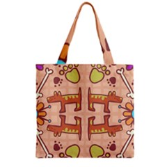 Pet Dog Design  Tileable Doodle Dog Art Grocery Tote Bag