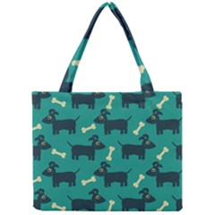 Happy Dogs Animals Pattern Mini Tote Bag
