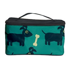 Happy Dogs Animals Pattern Cosmetic Storage Case