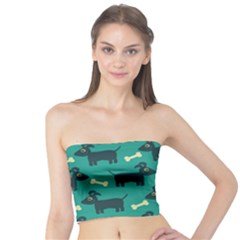 Happy Dogs Animals Pattern Tube Top